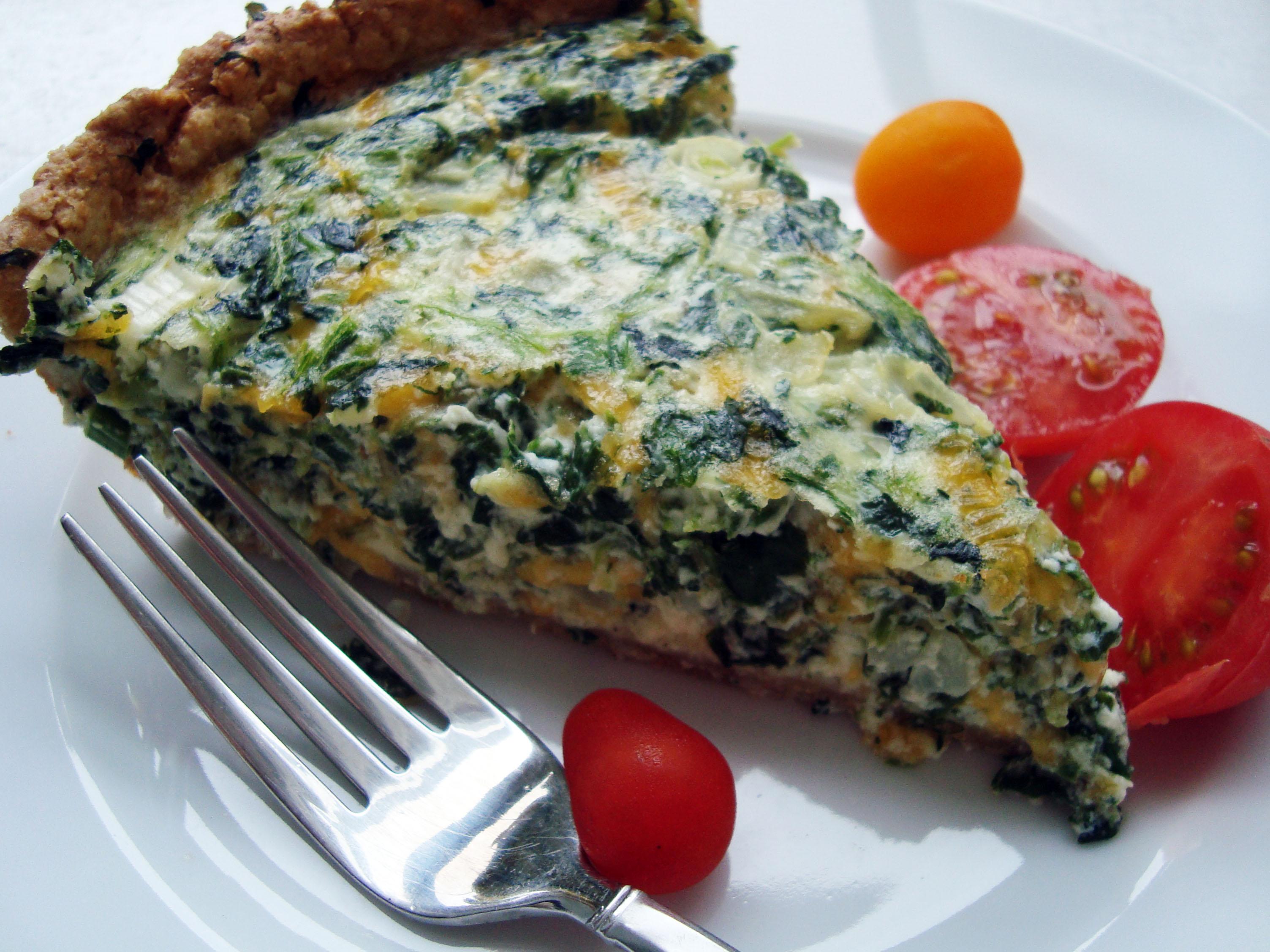 quiche spinach bacon and blue cheese quiche spinach gruyere quiche a ...